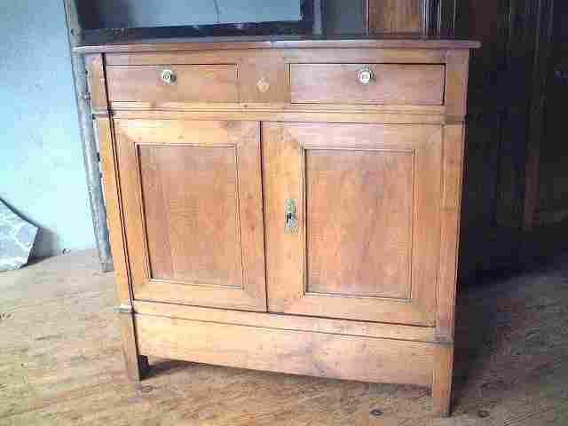 bahut haut directoire en merisier ancien antiquites brocante de la tour meubles anciens. Black Bedroom Furniture Sets. Home Design Ideas