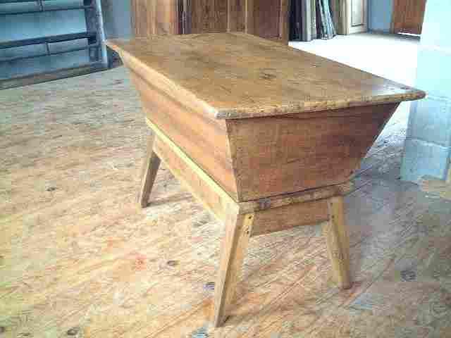 P trin en noyer dessus pin ancien antiquites brocante de la tour meubles anciens - Meuble ancien restaure ...