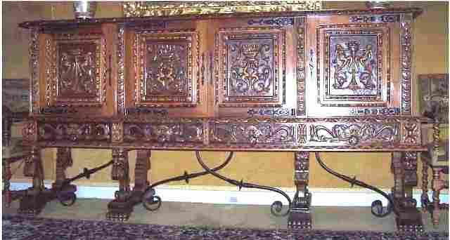 salle manger ancienne style renaissance espagnole. Black Bedroom Furniture Sets. Home Design Ideas