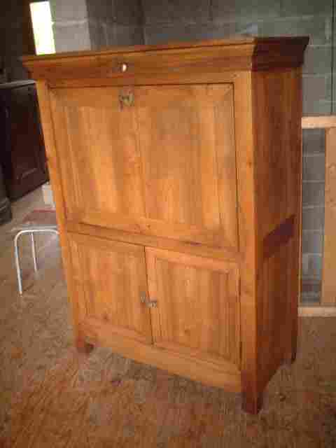 Secr taire lp ancien en noyer antiquites brocante de la for Meuble secretaire