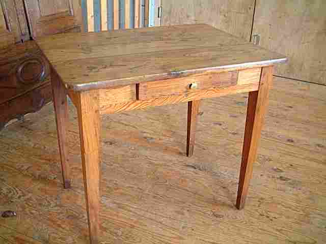 Table bureau ancienne ch ne merisier antiquites brocante for Table bureau