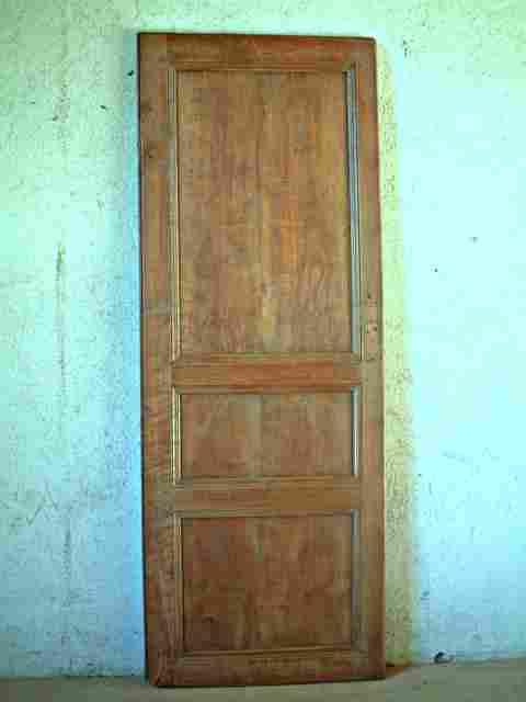 1 porte philipparde 3 panneaux en merisier antiquites for Porte 3 panneaux