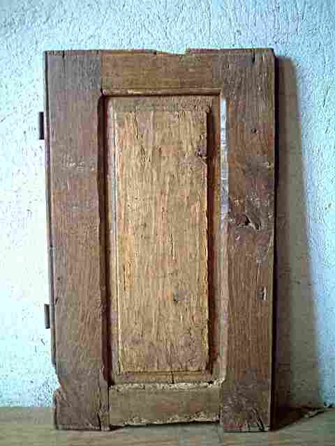 Une porte en ch ne et tilleul rustique vendue dans l 39 tat for Meuble ancien une porte