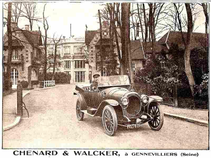 publicit automobile chenard et walcker decapotable a genevilliers documents automobiles. Black Bedroom Furniture Sets. Home Design Ideas