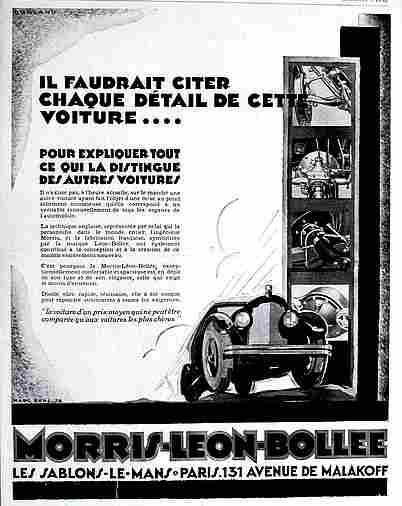 Affiches publicitaires francophone de voitures anciennes for D arcy motors morris il