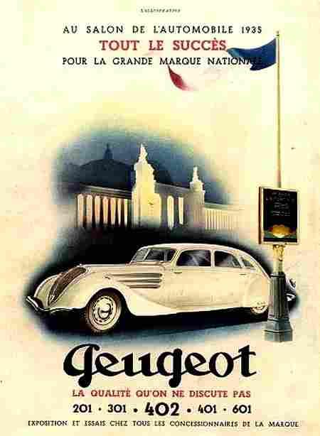 Affiches publicitaires francophone de voitures anciennes for Salon vieilles voitures