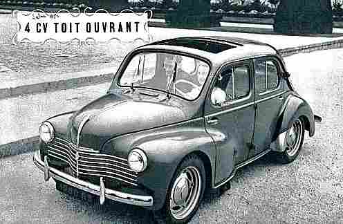 recherche mots cl s renault 4 cv documents anciens d 39 automobiles de collection v2. Black Bedroom Furniture Sets. Home Design Ideas
