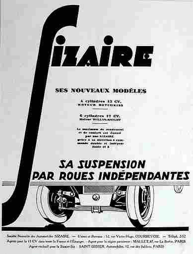 affiches publicitaires francophone de voitures anciennes page 26 documents anciens v1. Black Bedroom Furniture Sets. Home Design Ideas