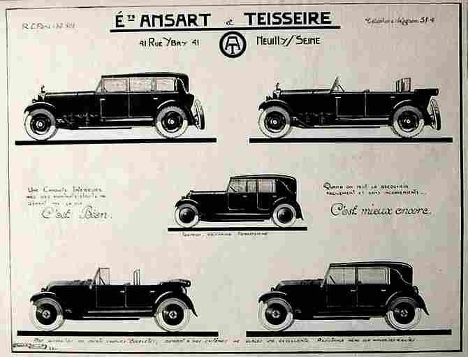 les anciens carrossiers ansart teisseire carrosserie salon de l 39 automobile documents. Black Bedroom Furniture Sets. Home Design Ideas