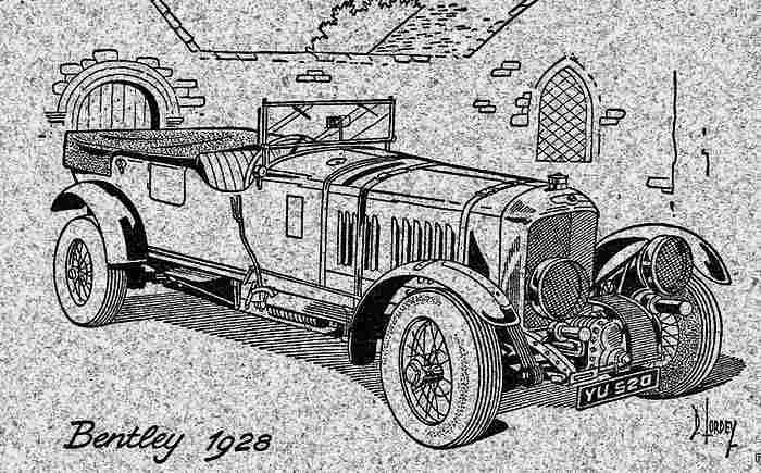 dessin image d 39 automobile bentley ancienne voiture d capotable documents automobiles anciens v2. Black Bedroom Furniture Sets. Home Design Ideas