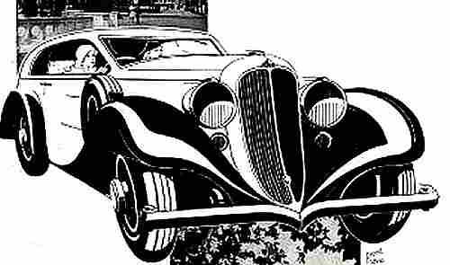 Dessins de v hicules anciens documents automobiles - Dessin de voiture de luxe ...