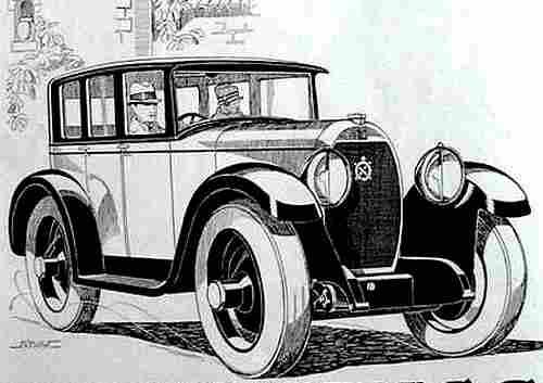 dessin image d 39 automobile hotchkiss 12 ch documents automobiles anciens v2. Black Bedroom Furniture Sets. Home Design Ideas