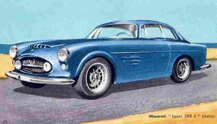 dessin image d 39 automobile maserati sport type 300 s documents automobiles anciens v2. Black Bedroom Furniture Sets. Home Design Ideas