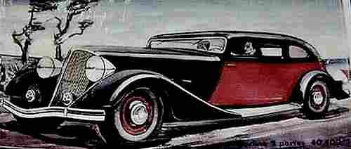 dessin image d 39 automobile renault sport une vivasport 6 cylindres documents automobiles. Black Bedroom Furniture Sets. Home Design Ideas