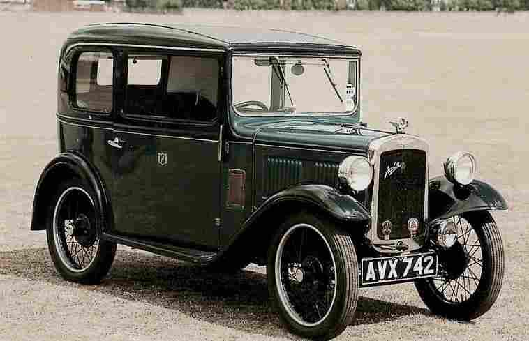 Photographie Originale, Austin, Un Véhicule Léger, Documents Automobiles Anciens, V2