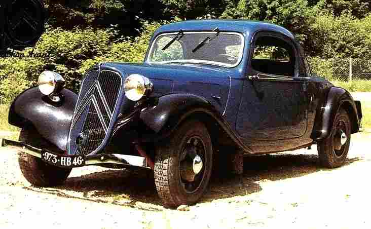 photographie originale citroen traction avant type faut cabriolet documents automobiles. Black Bedroom Furniture Sets. Home Design Ideas