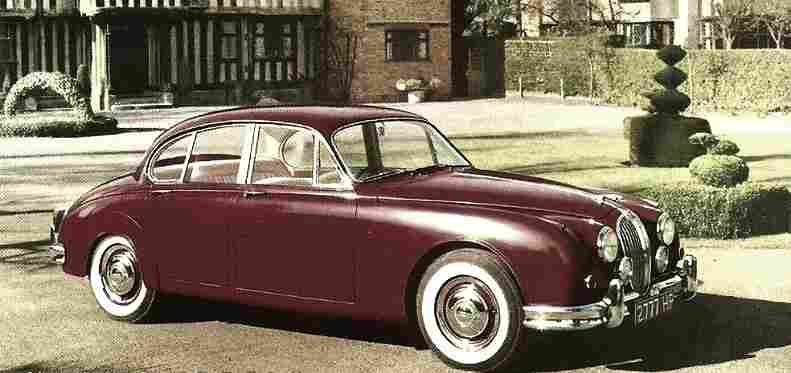 photographie originale jaguar mark 2 voiture ancienne documents automobiles anciens v2. Black Bedroom Furniture Sets. Home Design Ideas