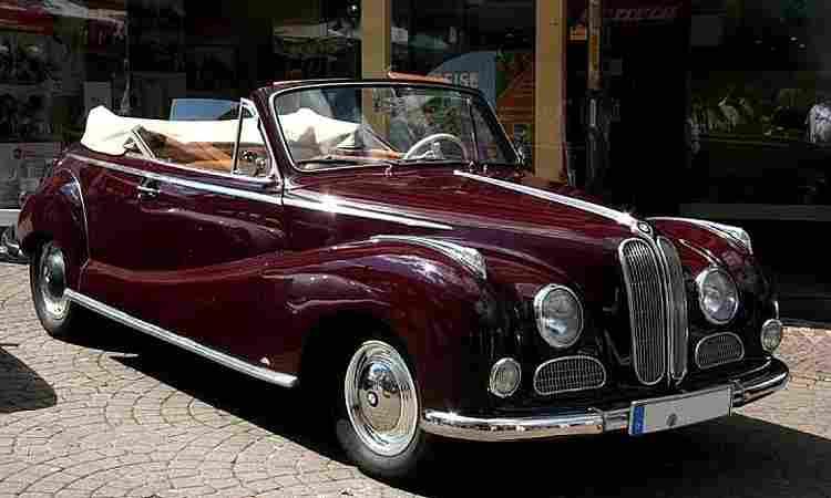 bmw 502 convertible de 1954 voitures anciennes de collection v2. Black Bedroom Furniture Sets. Home Design Ideas