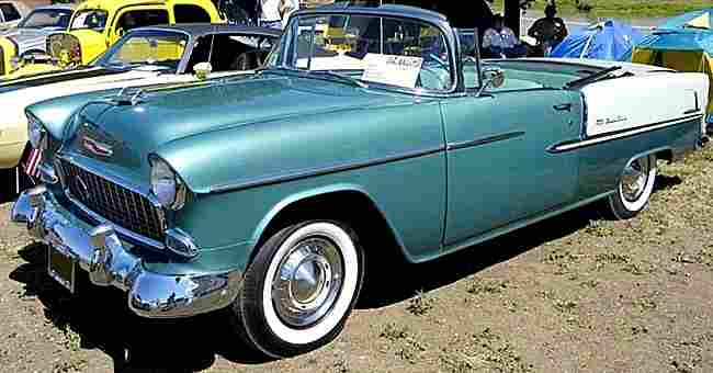 Chevrolet Bel Air Convertible Routire De 1955 Voitures Anciennes