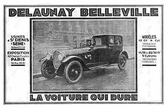 la marque delaunay belleville france 1904 1951 voitures anciennes de collection v2. Black Bedroom Furniture Sets. Home Design Ideas