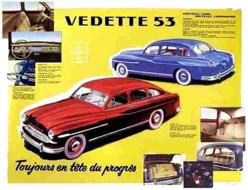 ford vedette 53 et 54 voiture routi re de 1953 voitures anciennes de collection v2. Black Bedroom Furniture Sets. Home Design Ideas