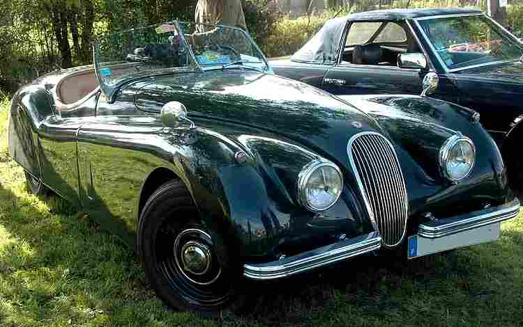 jaguar xk 120 xk 100 voiture routi re de 1948 voitures anciennes de collection v2. Black Bedroom Furniture Sets. Home Design Ideas