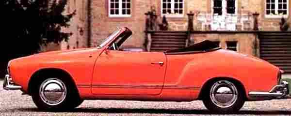 volkswagen karman-ghia, voiture routière de 1958, voitures anciennes