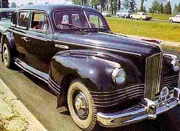 zil 110, voiture routière de 1956, voitures anciennes de collection, v2.