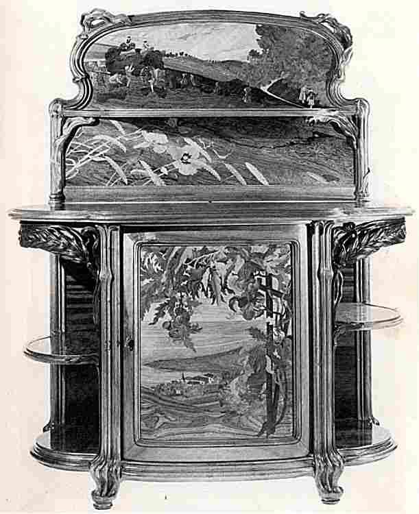 Credence meuble ancien id e inspirante pour for Meuble art nouveau