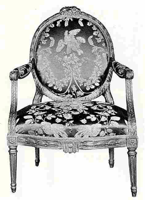 fauteuil dossier medaillon