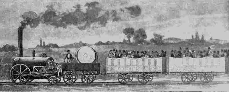 le premier train au monde